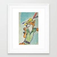 robin hood Framed Art Prints featuring Robin Hood  by Renatta Maniski-Luke