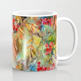 Rowan Tree With Colorful Autumn Leaves Coffee Mug