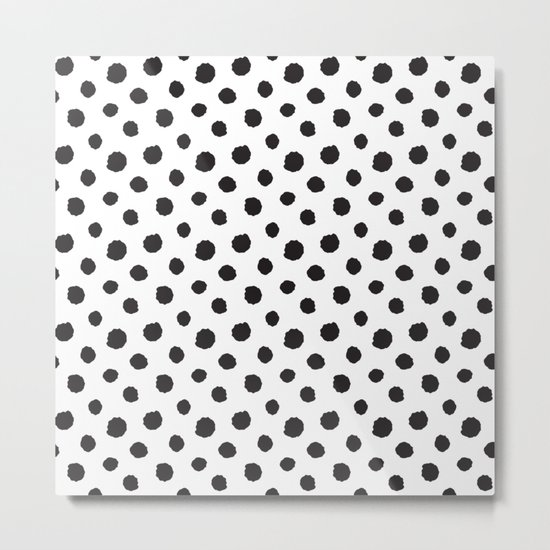 Minimal- black polka dots on white - Mix&Match with Simplicty of life Metal Print