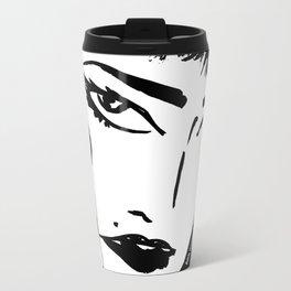M with bangs Metal Travel Mug