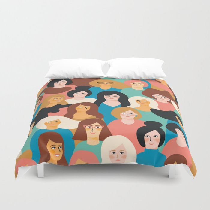 CUTE ALL-OVER WOMENS MARCH PATTERN Duvet Cover