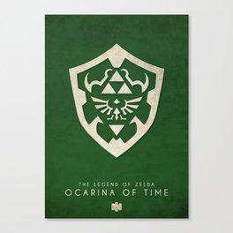 The Legend of Zelda: Ocarina of Time - Nintendo 64 Minimalist Canvas Print