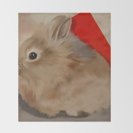 Lionhead Rabbit Throw Blanket
