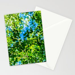 Linden Tree Leaves. Summer Shade Stationery Cards