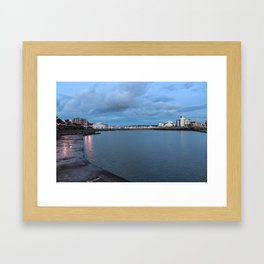 Weston-super-Mare Marine Lake Framed Art Print