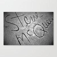steve mcqueen Canvas Prints featuring McQueen by Michael Buckner
