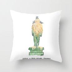 George W. Bush National Monument Throw Pillow
