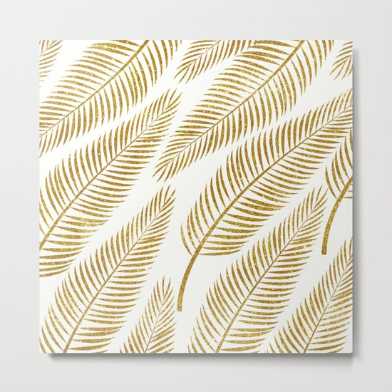 Golden Palm #society6 #decor #buyart Metal Print