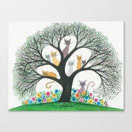 Cimarron Whimsical Cats Canvas Print