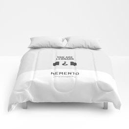 Flat Christopher Nolan movie poster: Memento Comforters
