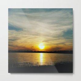Gorgeous sunset over lake Metal Print