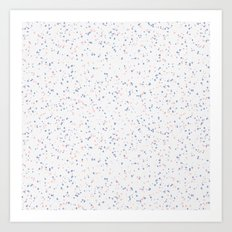 Speckles I: Rose Quartz & Serenity on Snow Art Print