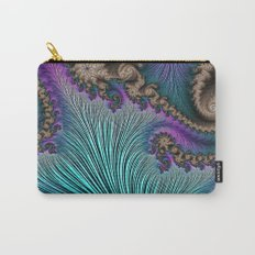 Aqua Fronds Carry-All Pouch