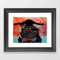 MALE GAZE Framed Art Print