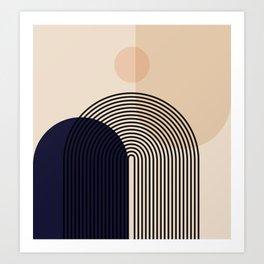 Abstraction_NEW_SUN_SHAPE_MOUNTAINS_LINE_POP_ART_M0202A Art Print