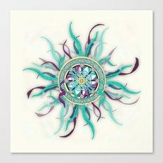 Colorful Dharma Ribbon Mandala Canvas Print