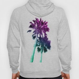 Retro Vintage Ombre Pop Art Los Angeles, Southern California Palm Tree Colored Print Hoody