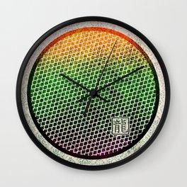 Dragon Scales Pattern Wall Clock