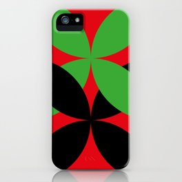 Two four-leaf clovers hugging in a beautiful deep red space. How lucky! iPhone Case