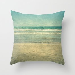 Seascape Vertical Vintage I Throw Pillow