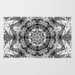 Black-and-White Abstract 3 Rug