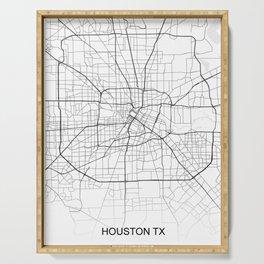 Houston street map Serving Tray