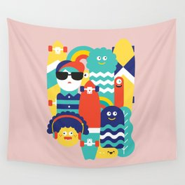 Skate gang *Pink* Wall Tapestry