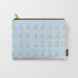 Meditating Unicorn Pattern Blue Carry-All Pouch