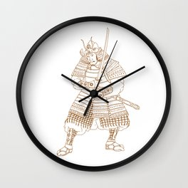 Bushi Samurai Warrior Drawing Wall Clock