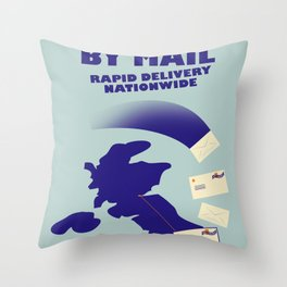 By Mail Throw Pillow