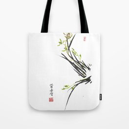 Green Wild Orchid Two Tote Bag