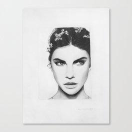 Barbara Palvin Portrait Canvas Print
