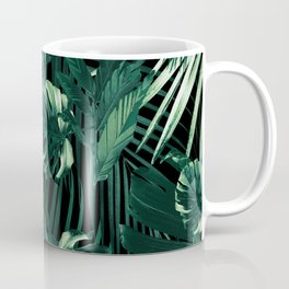 Tropical Jungle Leaves Night Siesta #1 #tropical #decor #art #society6 Coffee Mug