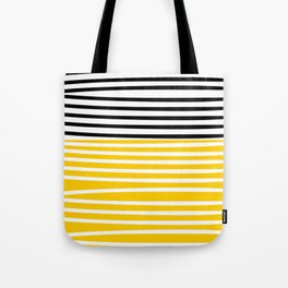 Cute yellow pattern with stripes Tote Bag