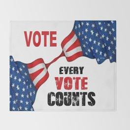 Vote - Every Vote Counts Throw Blanket