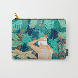 Backyard #illustration #painting Carry-All Pouch