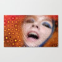 bjork Canvas Prints featuring Bjork by Artstiles