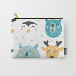 Baby Animals - Fantasy and Woodland Creatures Pattern Carry-All Pouch