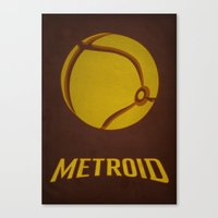 metroid Canvas Prints featuring Metroid by Jynxit
