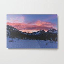 Kearsage Pass Sunrise - Pacific Crest Trail, California Metal Print