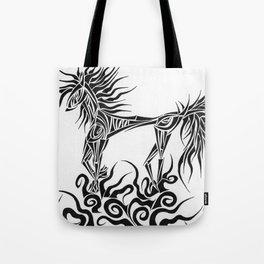 Tribal Horse Tote Bag