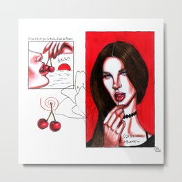 cherry~summer bummer Metal Print