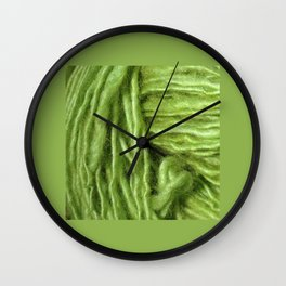 Spring Green Yarn Wall Clock