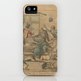One Days Sport of Three Real Good Ones. The Corinthians making it up...by showing the Johnny Raws ho iPhone Case