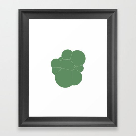 #247 Bubbles – Geometry Daily Framed Art Print