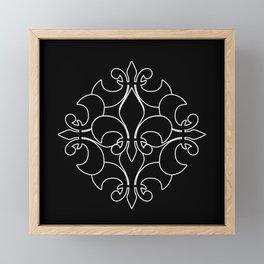 Fleur de lis ...Five Reversed Framed Mini Art Print