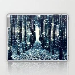Magical Forest Teal Gray Elegance Laptop & iPad Skin