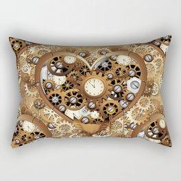 Steampunk Heart Love Rectangular Pillow