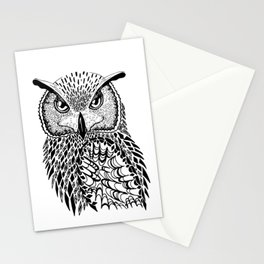 Flustered Owl Zentangle (abstract Stationery Cards