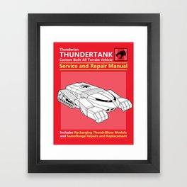 Thundertank Service and Repair Manual Framed Art Print